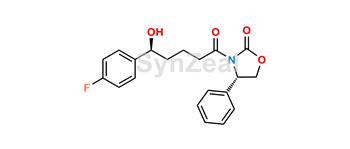 Picture of Ezetimibe impurity (3-[5-(4-Fluoro-phenyl)-5-(S)-hydroxy-pentanoyl]-4-(S)-phenyl-oxazolidin-2-one)