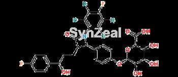 Picture of Ezetimibe D4 Phenoxy Glucuronide