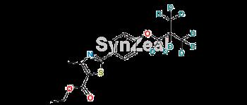 Picture of 3-Descyano Febuxostat D9 Ethyl Ester