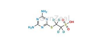 Picture of 2-(4,6-Diamino-1,3,5-triazin-2-yl)sulfanylethanesulfonic Acid D4
