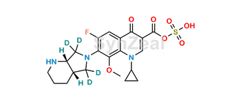 Picture of rac cis-Moxifloxacin-d4 Acyl Sulfate