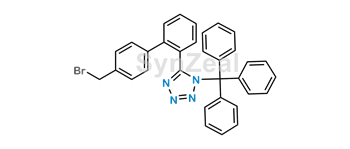Picture of Olmesartan Impurity (N-(Triphenylmethyl)-5-(4'-bromomethylbiphenyl-2-yl)tetrazole)