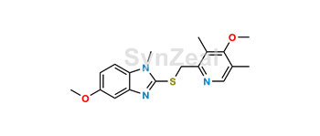 Picture of Omeprazole Sulfide N1-Methyl 5-Methoxy Analog