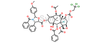Picture of 7-{[(2,2,2,-Trichloroethyl)oxy]carbonyl} Baccatin III (4S, 5S)-3-Benzoyl-2-(4-methoxyphenyl)-4-phenyl-5-oxazolidinecarboxylate