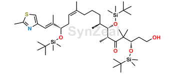 Picture of (3S,6R,7S,8S,12Z,15S,16E)-3,7,15-Tris-{[tert-butyl(dimethyl)silyl]oxy}-1-hydroxy-4,4,6,8,12,16-hexamethyl-17-(2-methyl-1,3-thiazol-4-yl)heptadeca-12,16-dien-5-one