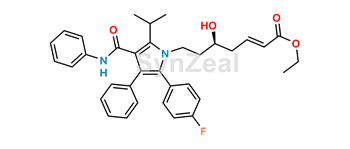Picture of Atorvastatin 3-Deoxy-Hept-2-Enoic Acid Ethyl Ester