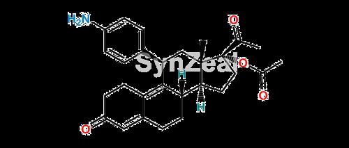 Picture of N,N-Didesmethyl Impurity  Ulipristal Acetate