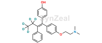 Picture of (Z)-4-Hydroxy-N-Desmethyl Tamoxifen D5