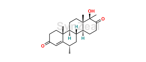 Picture of (17a-beta)-Hydroxy-6alfa,17a-dimethyl-D-homoandrost-4-ene-3,17-dione