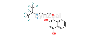 Picture of 4-Hydroxy Propranolol D7