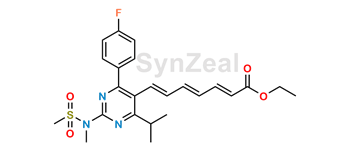 Picture of Rosuvastatin 2,3,4,5-Dianhydro Acid Ethyl Ester