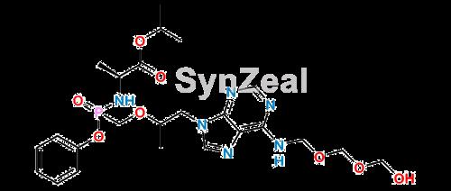 Picture of Tenofovir Alfenamide N-hydroxy methyl methoxy impurity