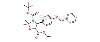 Picture of (4S,5R)-2,2-Dimethyl-4-[4-(phenylmethoxy)phenyl]-N-Dimethylethoxycarbonyl-3,5-oxazolidinecarboxylic Acid Ethyl Ester
