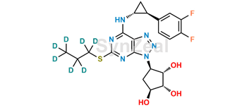 Picture of Deshydroxyethoxy Ticagrelor-d7