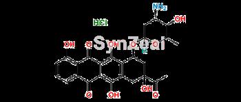 Picture of 4-Demethyl Daunorubicin hydrochloride