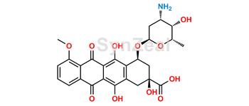 Picture of 9-Carboxy Doxorubicin Impurity
