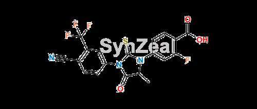 Picture of Desmethyl Enzalutamide Acid Impurity